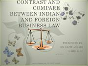 Indian and foreign business law
