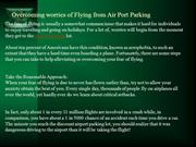 Overcoming worries of Flying from Air Port Parking