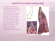 Look Pretty in Colorful Bengali Saree
