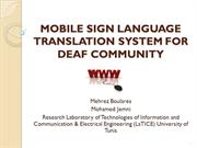 Mobile Sign Language Translation System