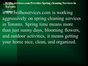Brilho services.com Provides Spring cleaning Services in Toronto