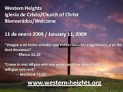 Bilingual Praise & Worship - 1/11/09