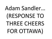 Three cheers for Adam