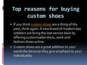 Custom made shoes  | Top reasons for buying custom shoes