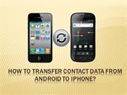 How to transfer contact data from Android to IOS
