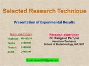 Selected rearch technique_ppt