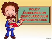 GUIDELINES ON NEW CURRICULUM