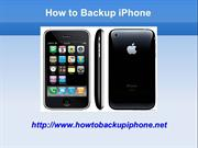 Backup iPhone Files using iPhone Backup Software
