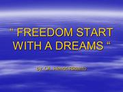 01.FREEDOM START WITH A DREAM