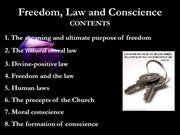 Freedom, Law and Conscience