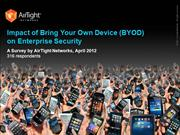 Impact of BYOD on Enterprise Security