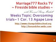 Marriage777 Rocks TV- OVERCOMING TRIALS
