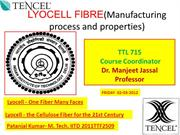 LYOCELL FIBRE(Manufacturing process and properties) PPT