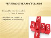 Pharmacotherapy for AIDS