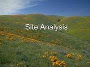 Site Analysis – An Overview