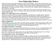 Free Online Quiz Makers