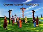 Cyprus  Easter Traditions