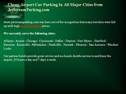 Cheap Airport Car Parking In All Major Cities from JetStreamParking.co