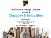 Design 1 2009 Design Lecture 6-Creativity