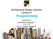 Design 1 2009 Design Lecture 4-Program