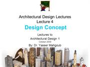 Design 1 2009 Design Lecture 5-Concept
