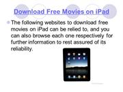 Download Free Movies on iPad