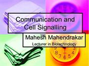 Cell Communication and Cell Signalling