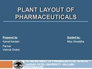 Plant layout of pharmaceuticals