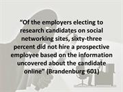 Employers Using Facebook