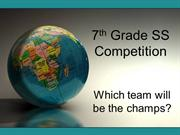 7th Grade SS Competition