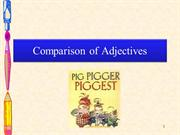Comparison of adjectives presentation