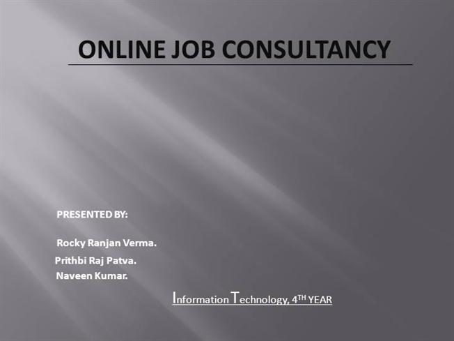 Online job consultancy authorstream online job consultancy ccuart Image collections
