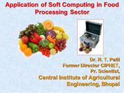 Soft Computing in Food Processing
