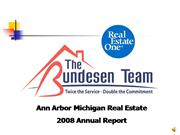 2008 Ann Arbor Real Estate Sales Report
