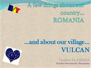 Romania and Vulcan