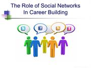 The Role of Social Networks in Career Building