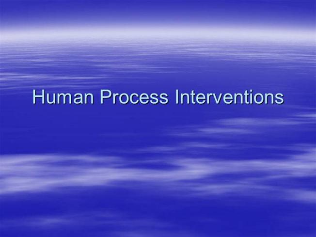 human process interventions Human performance technology  the hpt process begins with a comparison of the present and the desired  the interventions are.