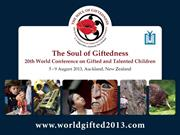 2013 Soul of Giftedness Conference