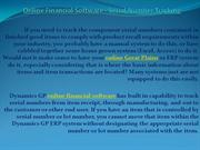 Online Financial Software - Serial Number Tracking