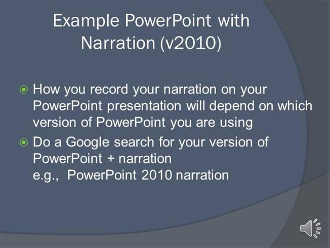 example powerpoint presentation with narration authorstream