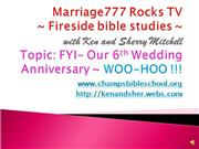 Marriage777 Rocks TV-6thWEDDINGANNIVERSARY