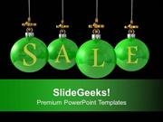 CHRISTIAN CHRISTMAS BALLS HANGING DISCOUNT SALE PPT TEMPLATE