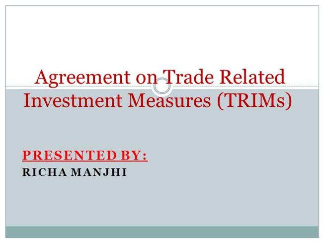 TRADE RELATED INVESTMENT MEASURES PDF