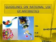 Guideline on Rational Use of Antibiotics