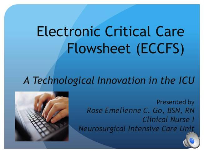 Electronic Critical Care Flowsheet |authorSTREAM