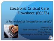 Electronic Critical Care Flowsheet