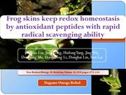 Frog skins keep redox homeostasis by antioxidant peptides