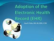 Adoption of the Electronic Health Record