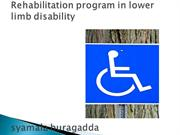 Rehabilitation program in Lower limb Disability