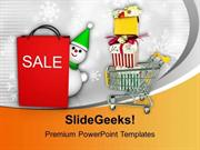 CHURCH CHRISTMAS SALE BASKET FULL OF ITEMS PPT TEMPLATE